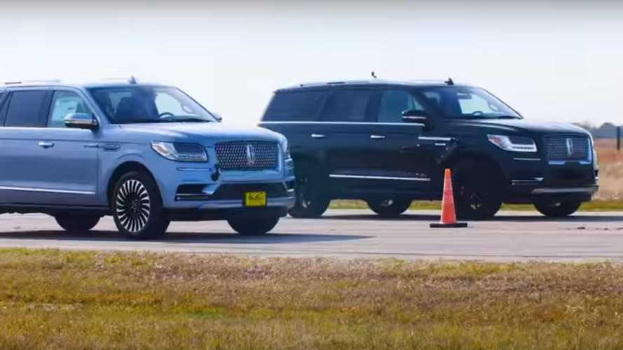 Hennessey Pits 600-HP Lincoln Navigator Against Stock Model