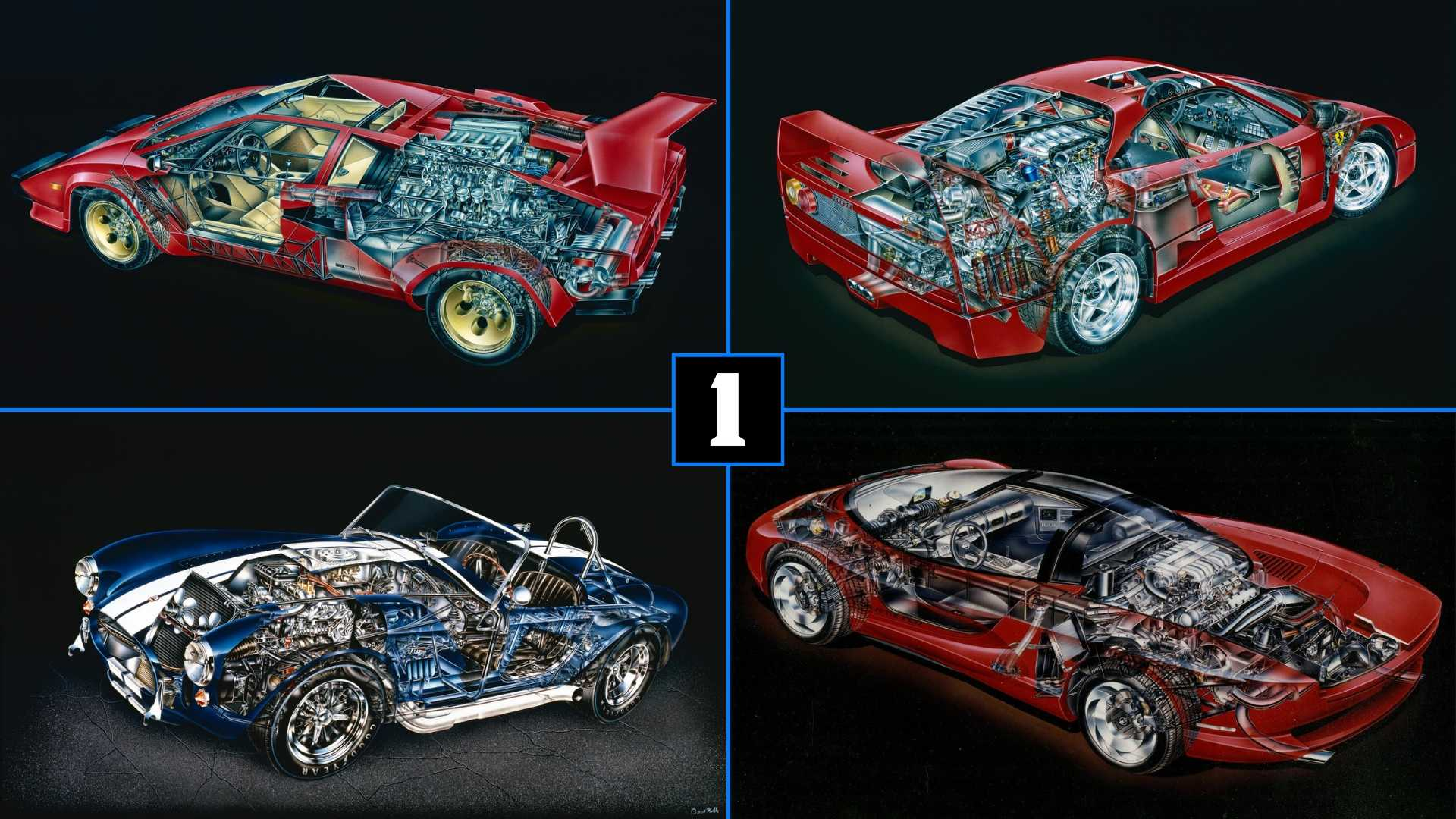 Unwrap 10 Awesome Cars With These Amazing Kimble Cutaways