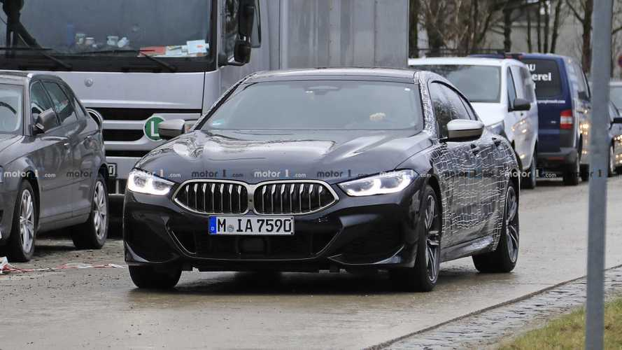 BMW 8 Series Gran Coupe spied with less disguise