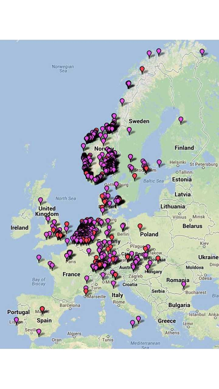 Here's a Look at Where Tesla Model S Sedans Are Being Ordered in Europe
