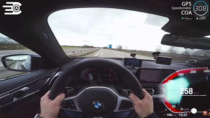BMW 8 Series Diesel On Autobahn