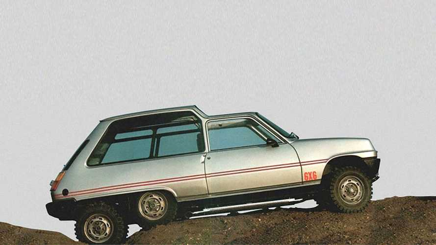 ¿Qué te parece este Renault 5 6x6 preparado?