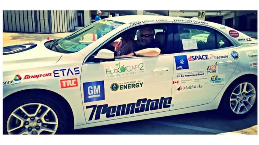 Penn State Wins Year 2 of ECoCAR 2 Challenge With E85 Plug-In Hybrid Chevy Malibu