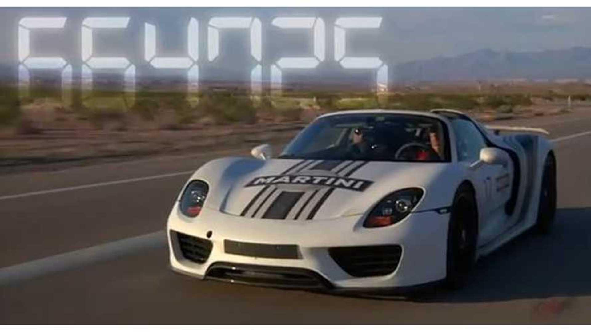 Video Porsche 918 Spyder Plug In Hybrid Heads To The Valley Of Fire