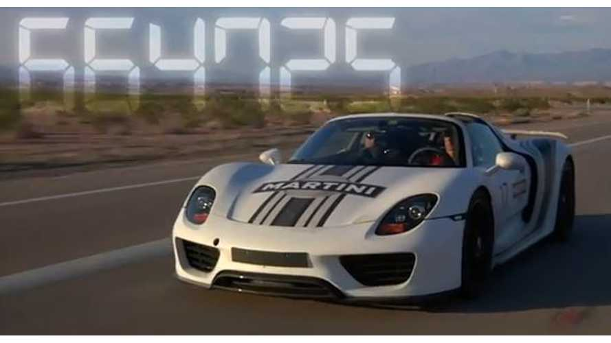 Video: Porsche 918 Spyder Plug-In Hybrid Heads to the Valley of Fire for Hot Weather Testing