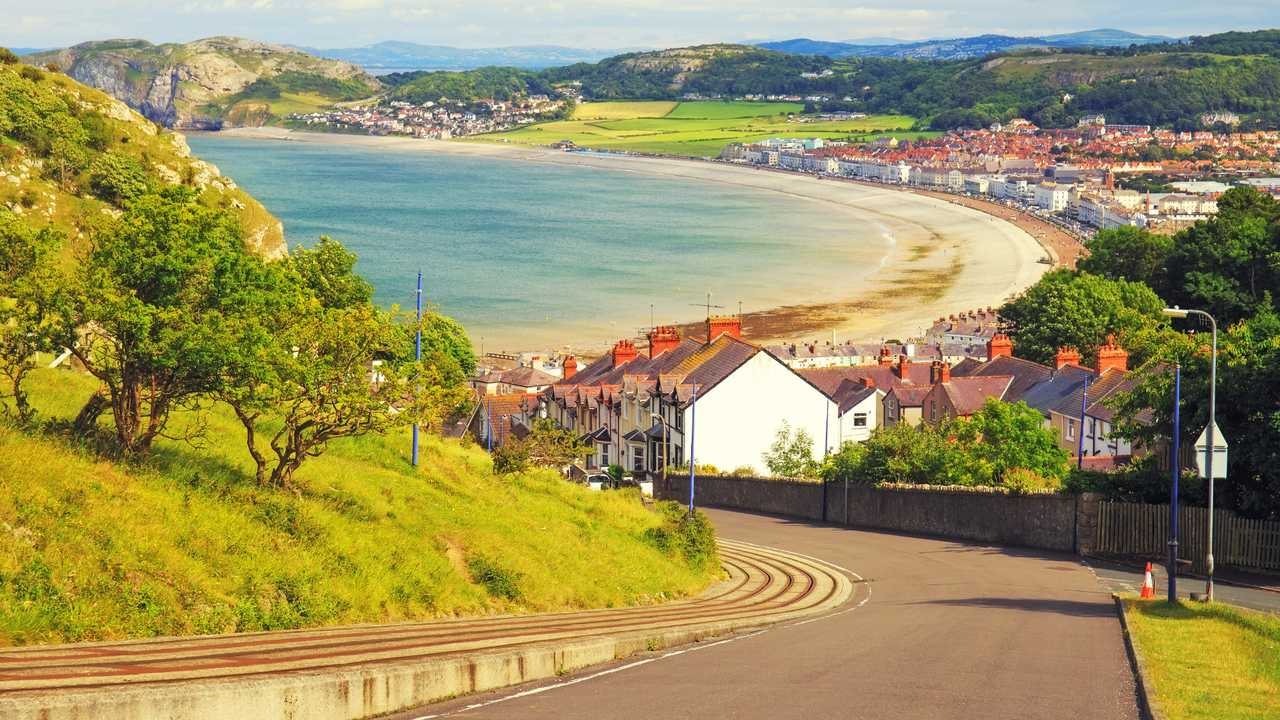 Llandundo bay and city Wales UK