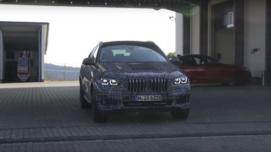 2020 BMW X6 Spy Photos (screenshot)