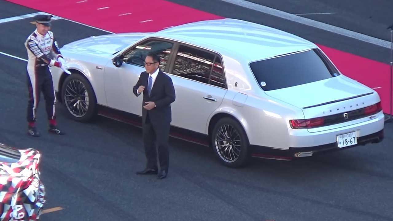 Akio Toyoda shows off Toyota Century GRMN