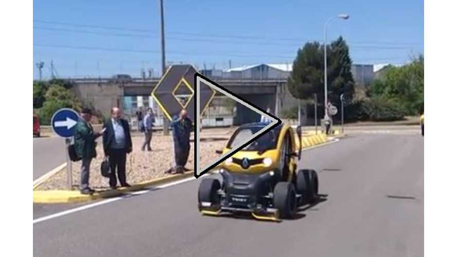 Video Compilation of Twizy Renault Sport F1 Debut and First Road Test