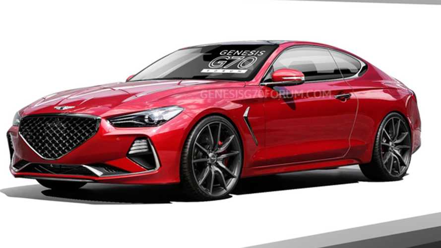Genesis G70 Coupe Rendered With Sexier Rear End
