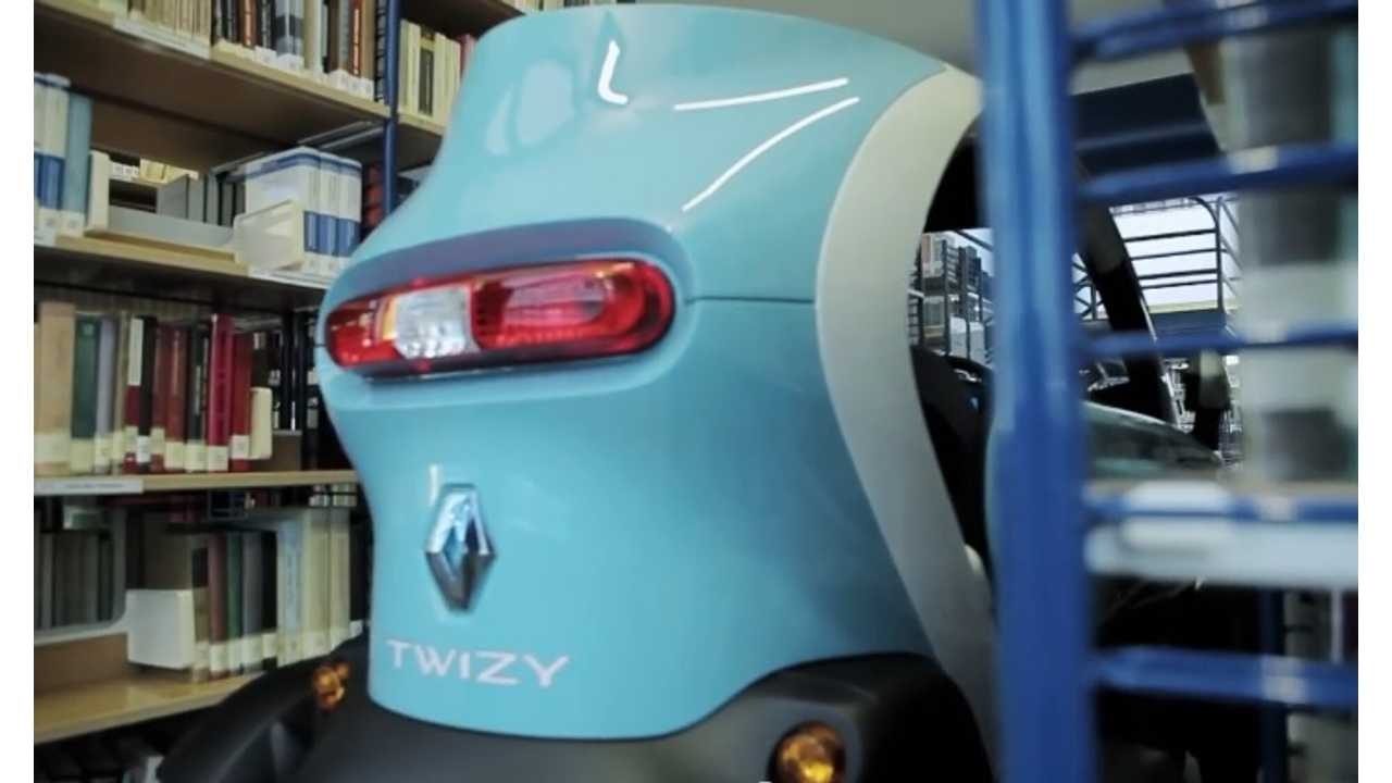 renault twizy hits the library