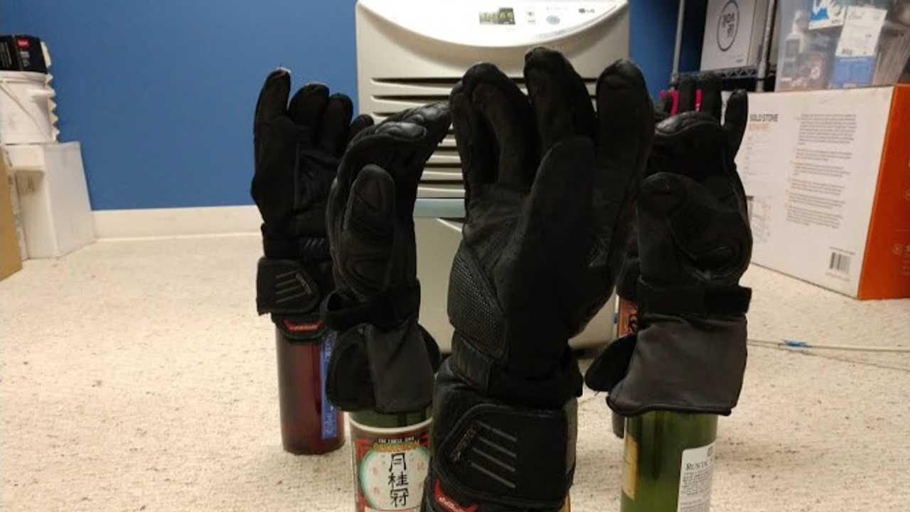 Prop Gloves On Bottles