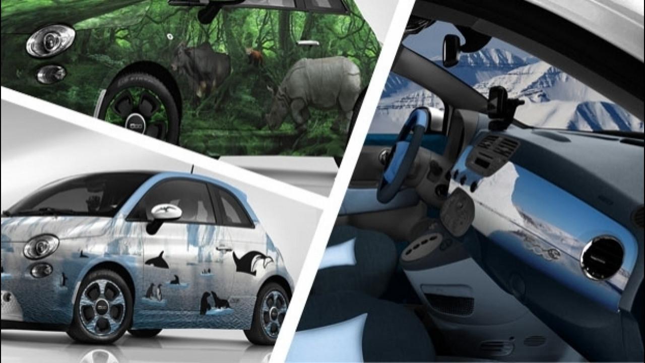 [Copertina] - Fiat 500, le due elettriche di Lapo all'asta di Leonardo Di Caprio