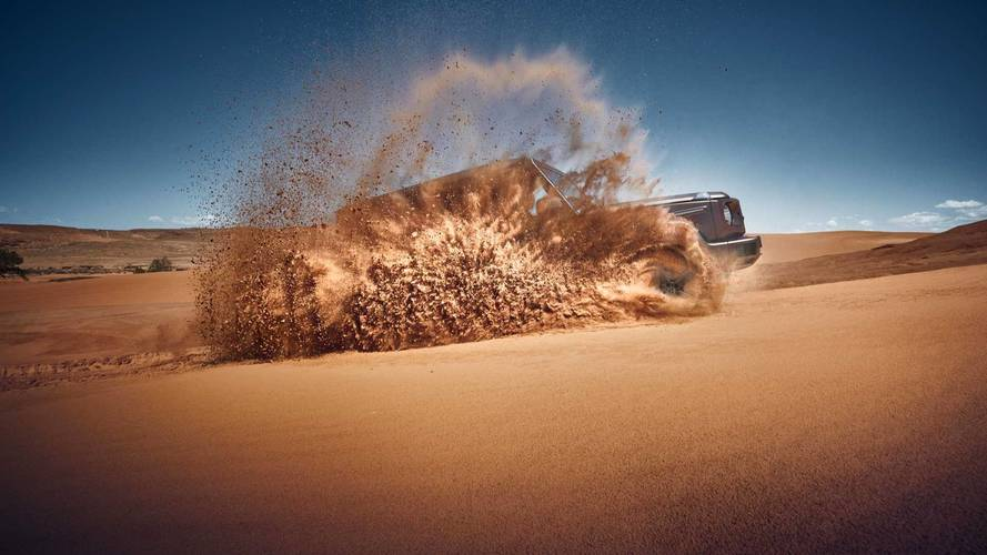 Second Mercedes-Benz G-Class Teaser Shows The SUV Playing In Sand