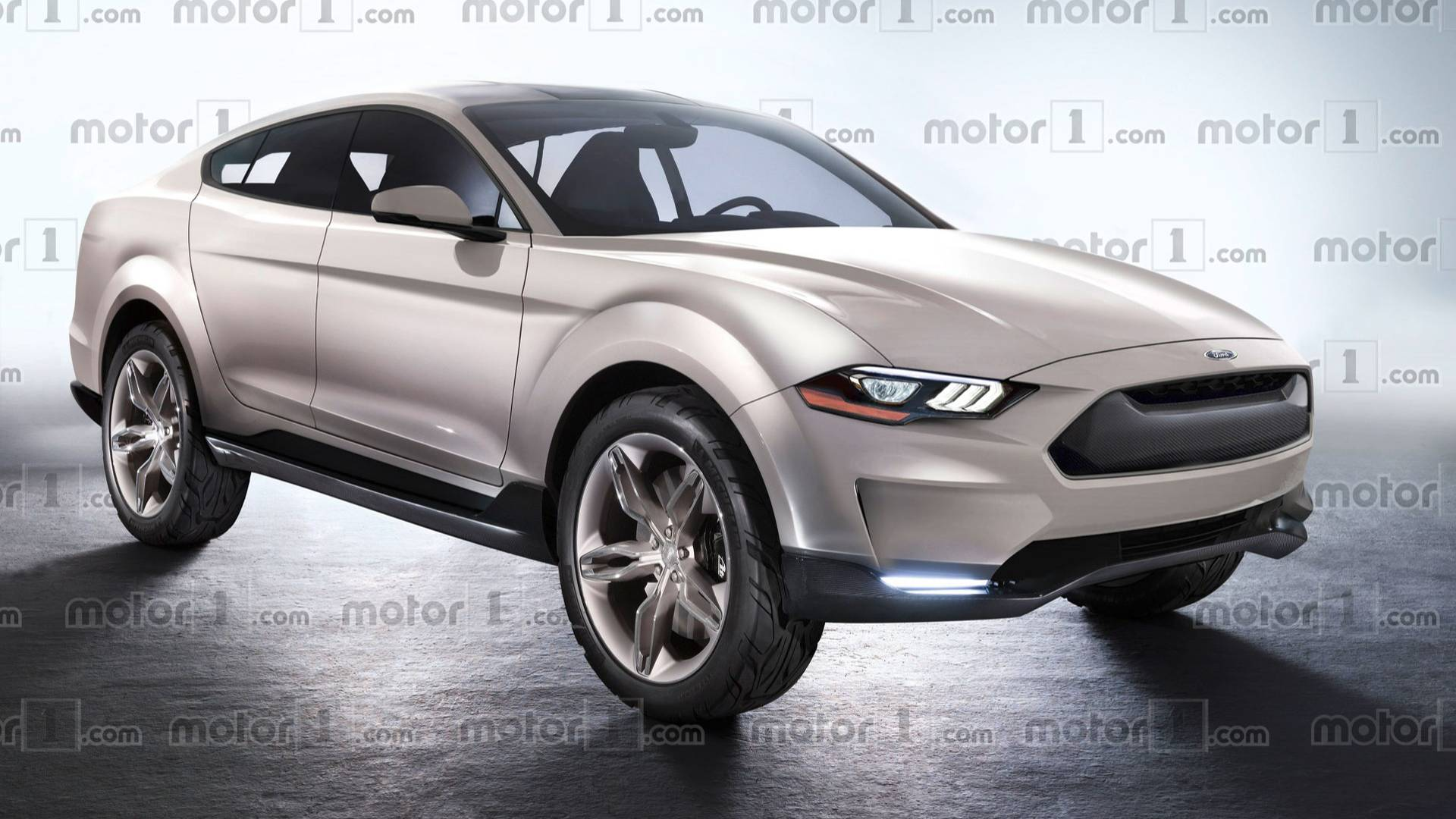 This is what fords mustang based electric suv might look like