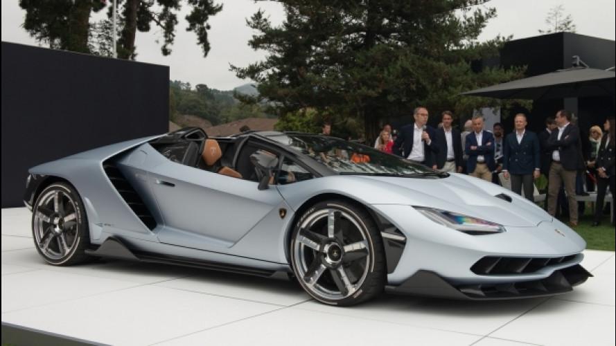Lamborghini Centenario Roadster, astenersi deboli di cuore