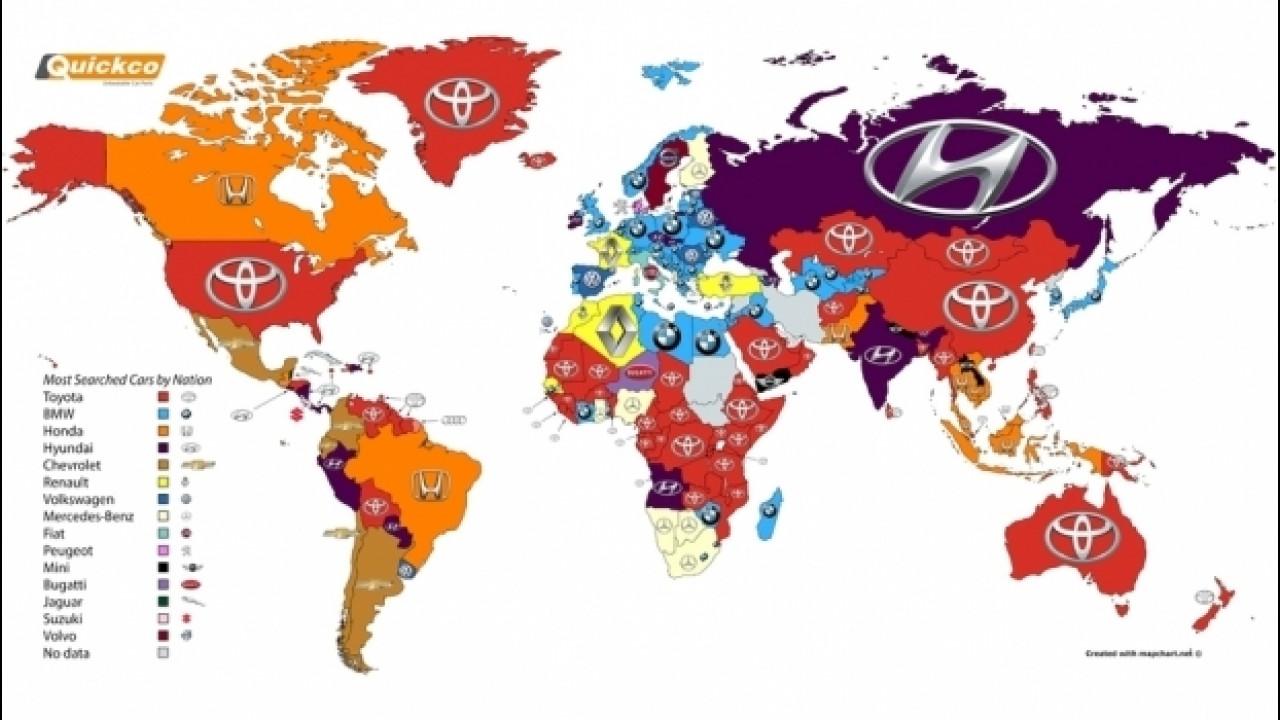 [Copertina] - Google: il marchio più cliccato del mondo è Toyota, in Italia è Fiat