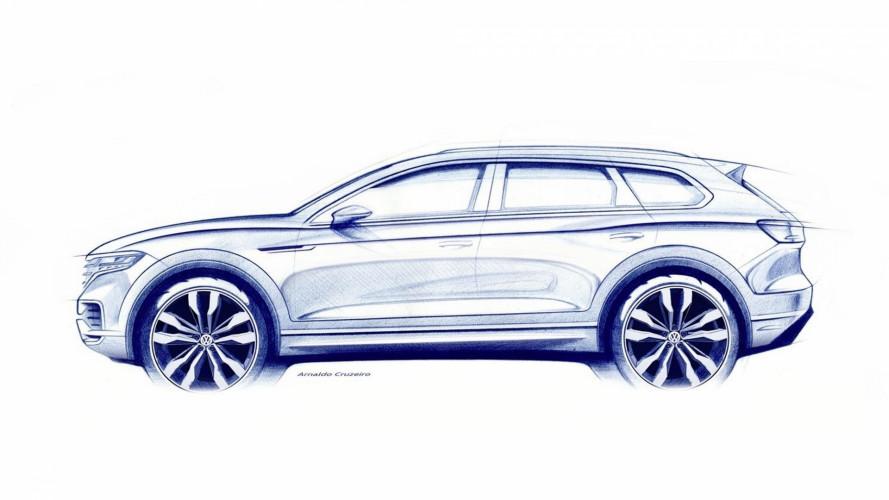 Nuova Volkswagen Touareg, il primo bozzetto
