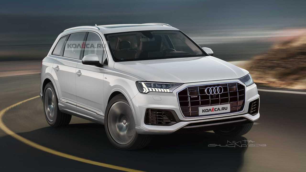 2020 Audi Q7 facelift render
