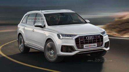 Audi Q7 2019, render basado en fotos espía