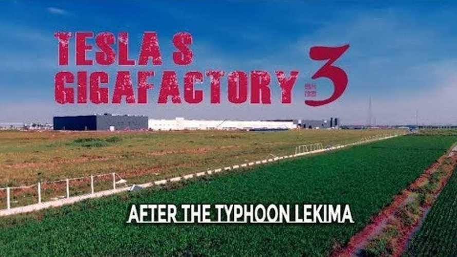 Tesla Gigafactory 3 After The Lekima Typhoon: Video