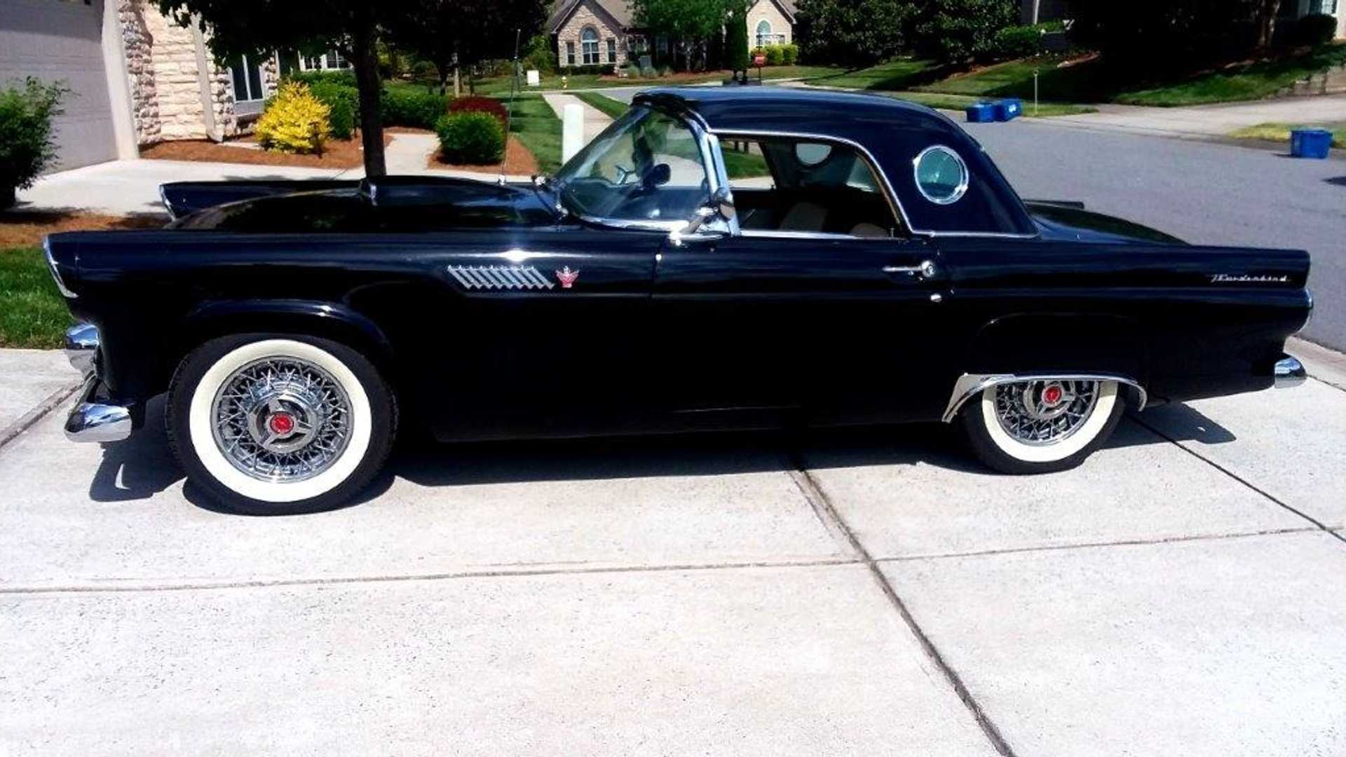 "[""Raven Black 1955 Ford Thunderbird Convertible Is Perfectly Pristine""]"