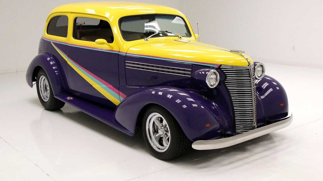 Prismatic-Colored 1938 Chevrolet Master Deluxe Is Wildly Beautiful