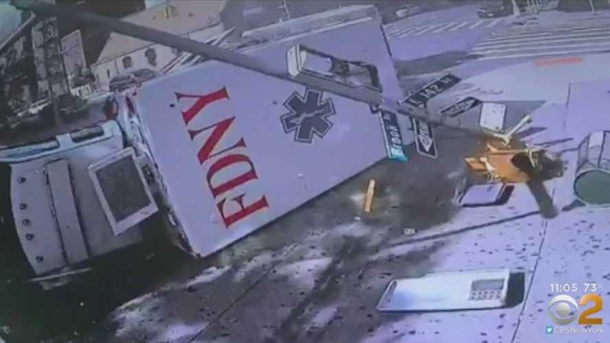 Two Ambulances Smash Into Each Other On Way To Same Scene