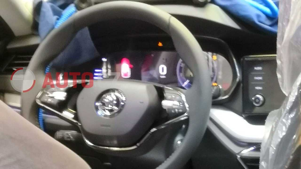 2020 Skoda Octavia interior spy photo
