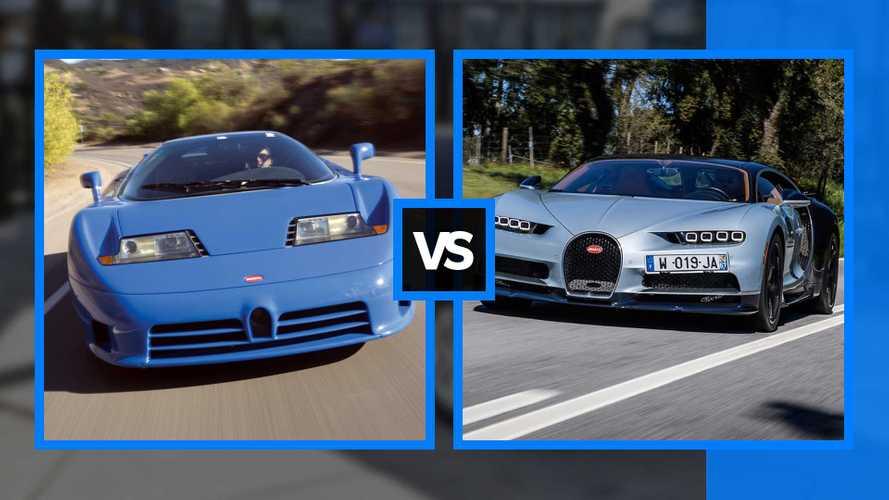 Bugatti EB110 vs Bugatti Chiron, sfida affascinante e impossibile