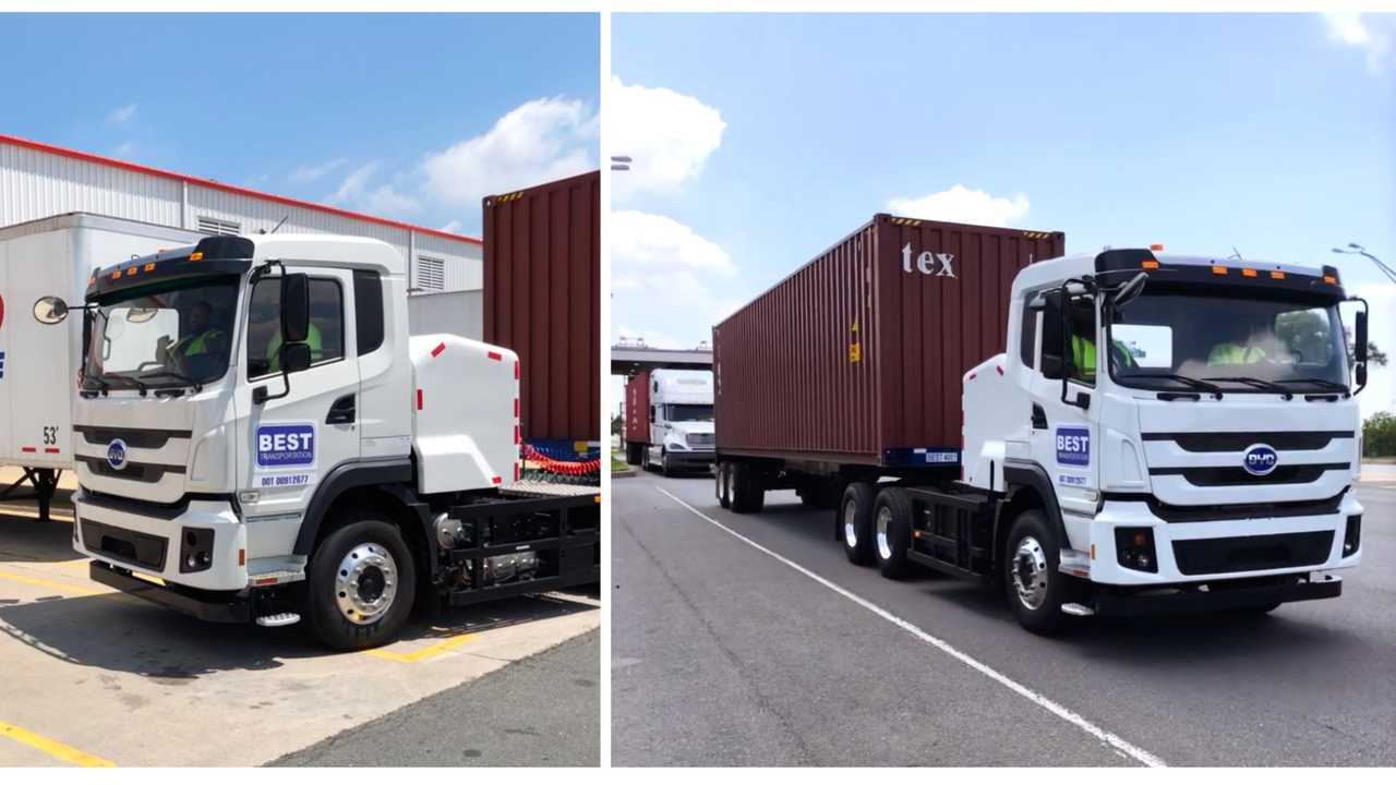 Best Transportation Makes History with First Use of BYD Electric Truck