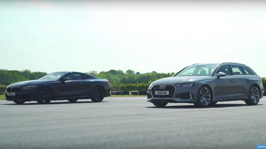 BMW M850i Duels Audi RS4 In Drag And Rolling Races, Brake Test