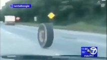 cop kamyonundan firlayan tekerlek kaza