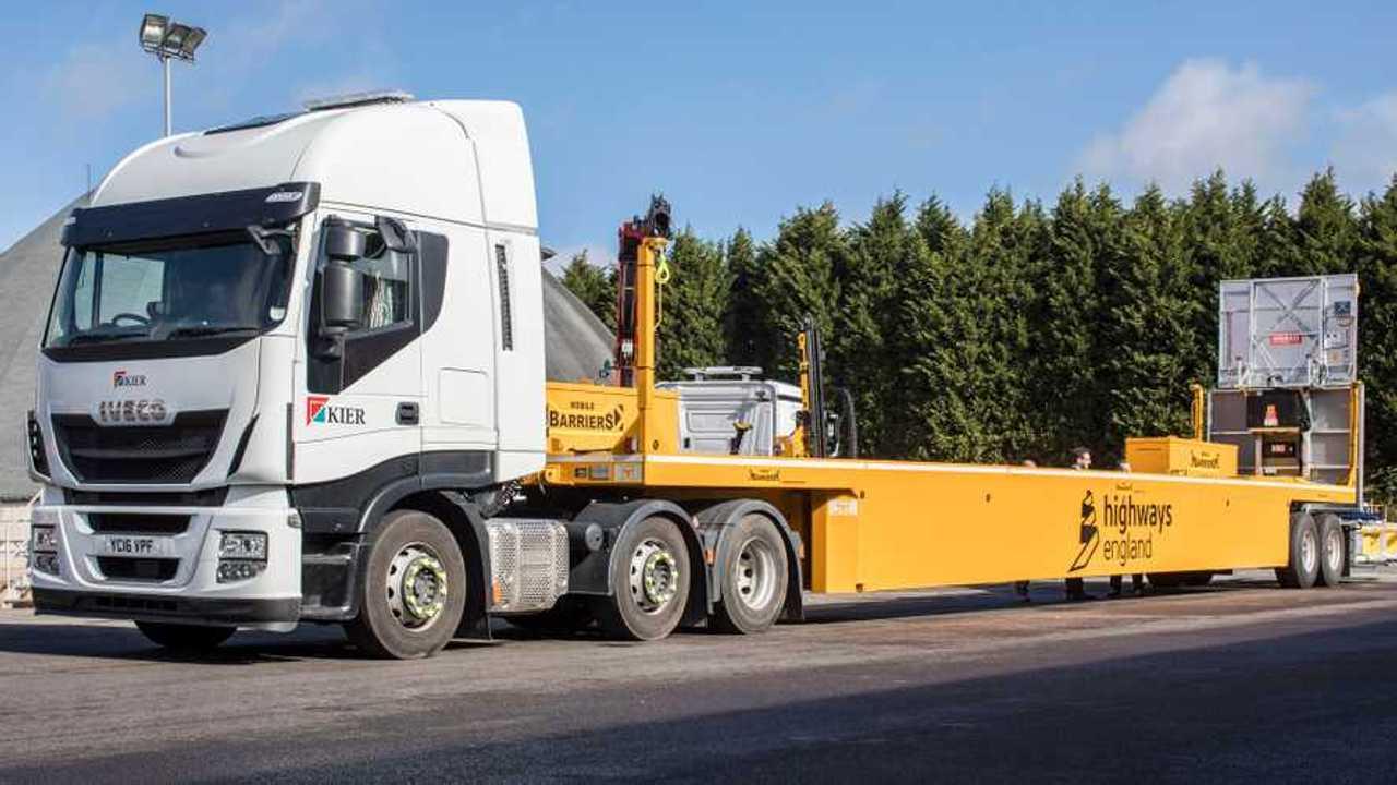 Highways England mobile crash barriers