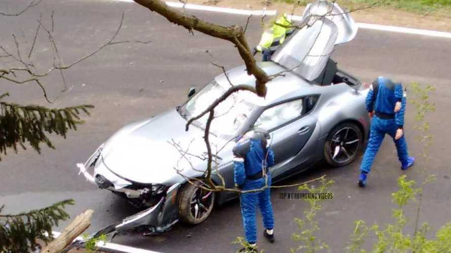 Toyota Supra 2019: accidente en Nürburgring