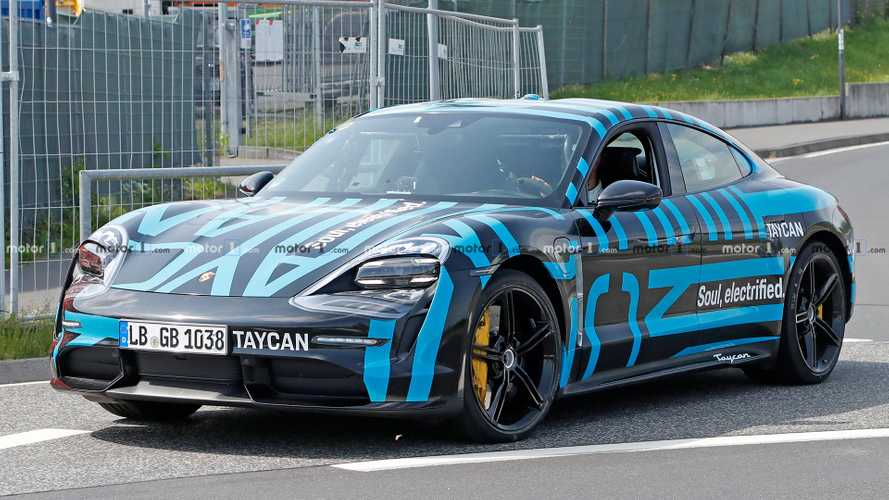 Porsche Taycan Spied Wearing Camouflage That Hides Nothing