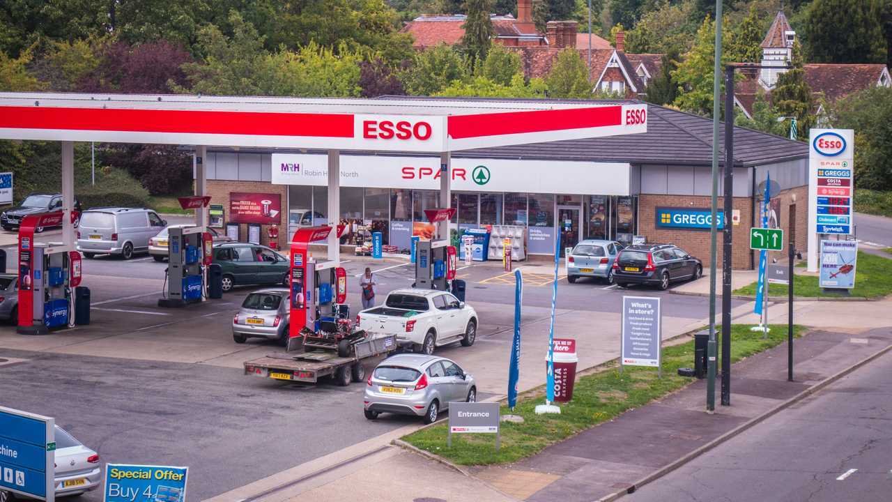 Esso fuel station in London