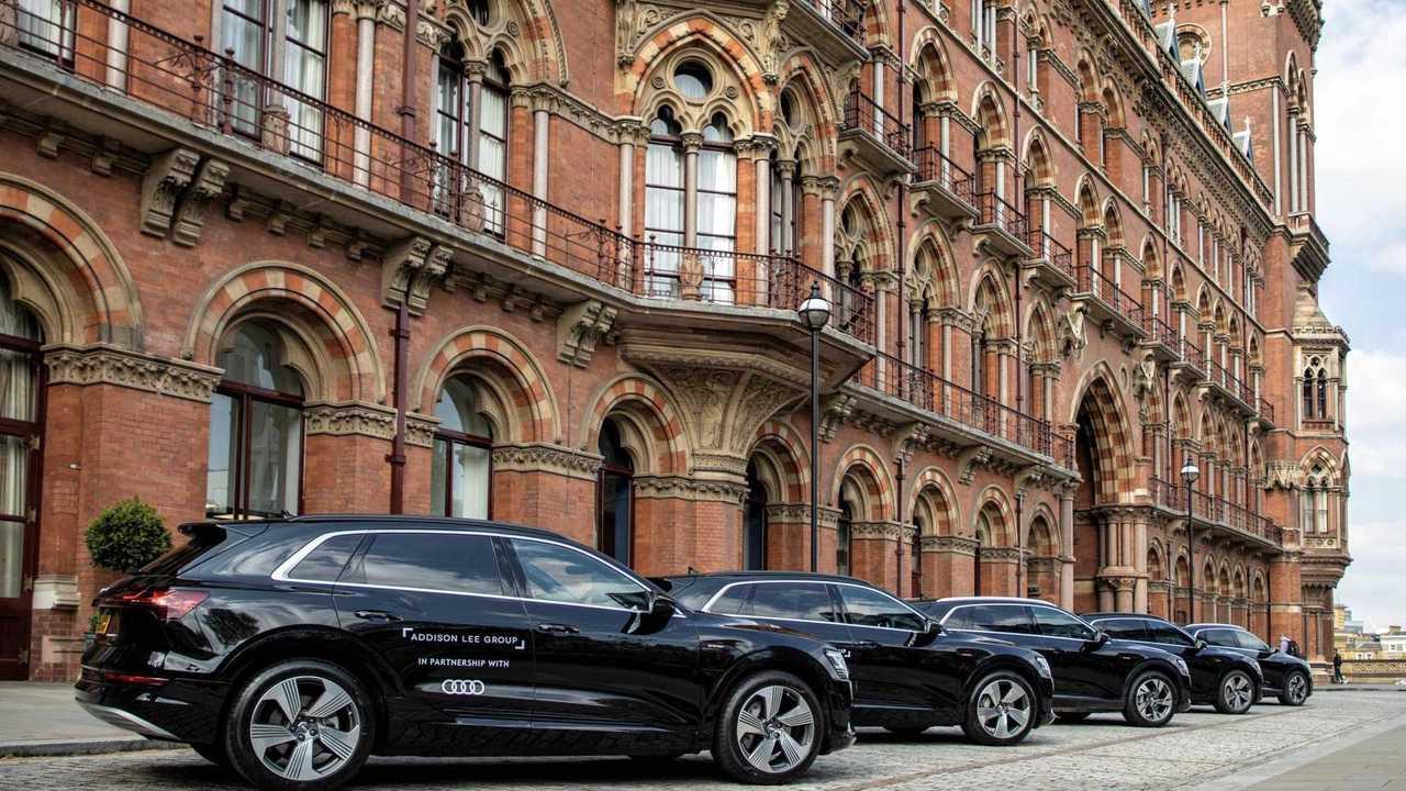 Audi e-tron in Addison Lee Group fleet