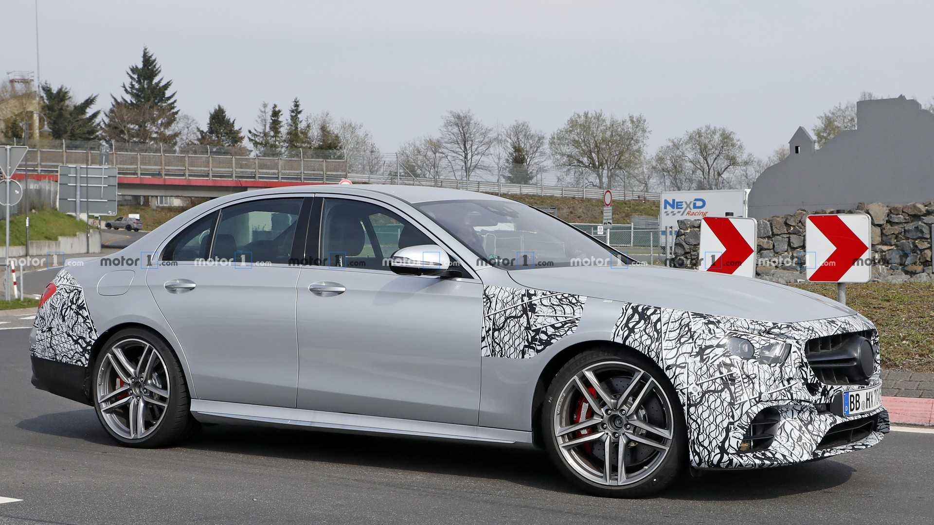 2020 - [Mercedes-Benz] Classe E restylée  - Page 2 2021-mercedes-amg-e63-sedan-spy-photo
