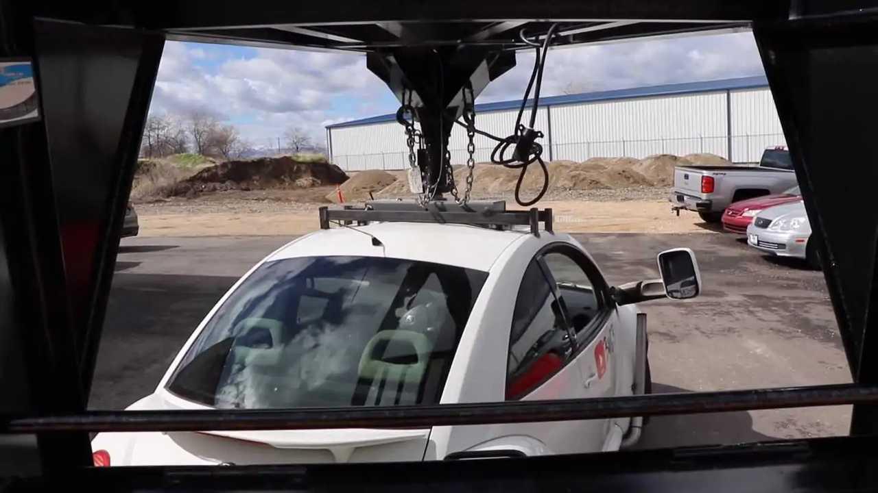 VW Beetle Pulling Trailer
