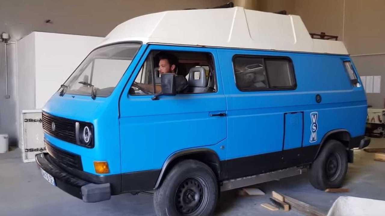 8. A Tesla-powered classic camper