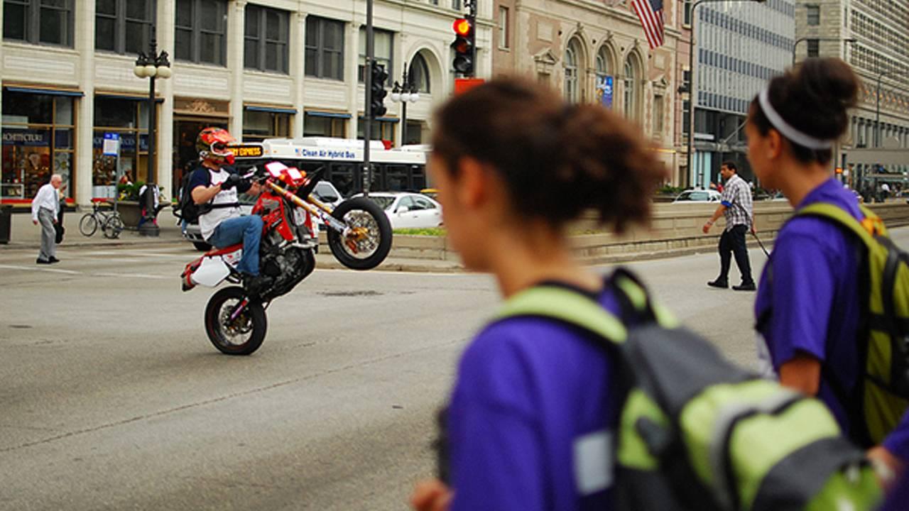 Pull two wheelies in Illinois, go to jail