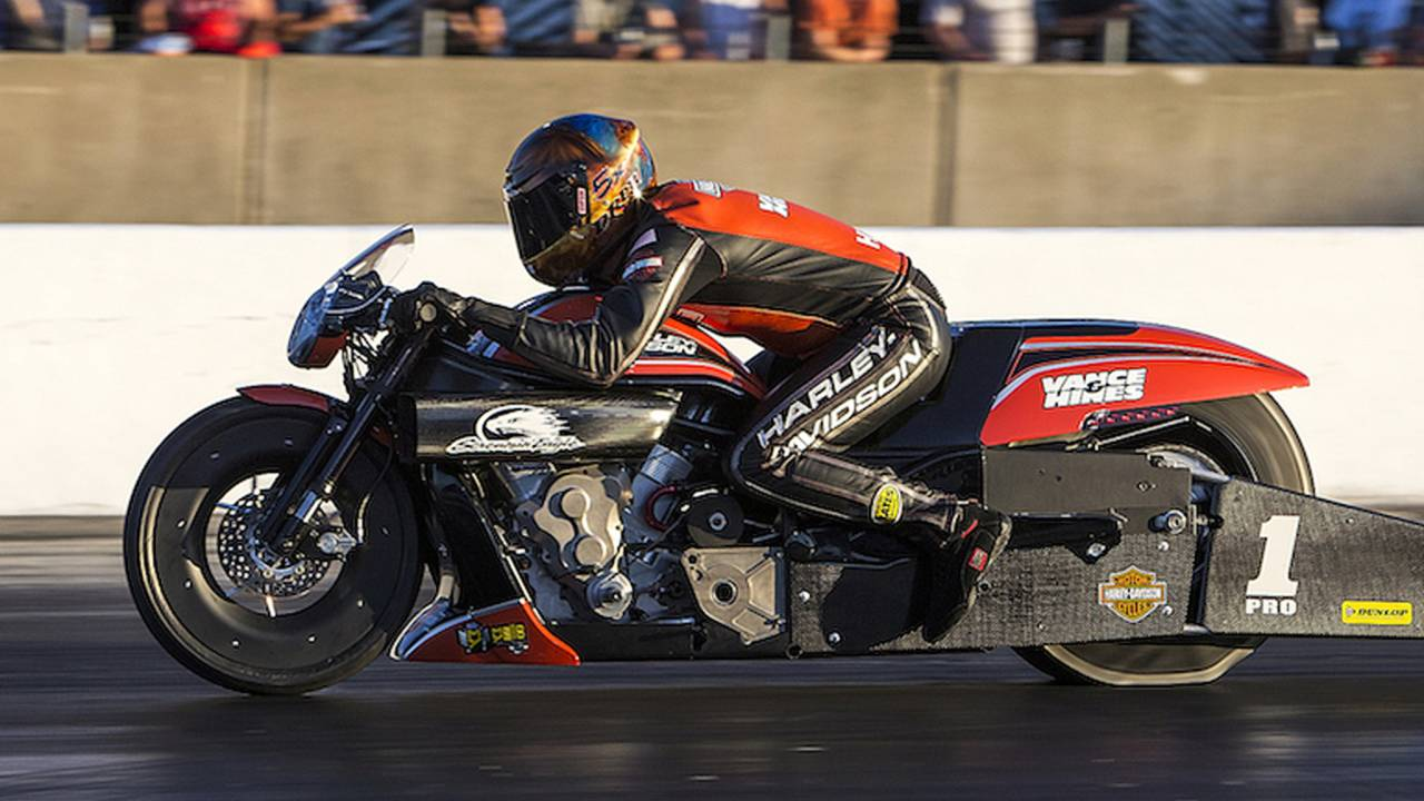 Harley-Davidson Rider Hines Earns NHRA Win in Chicago