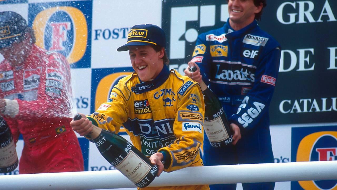 Prost venceu, com Senna e Schumacher no pódio
