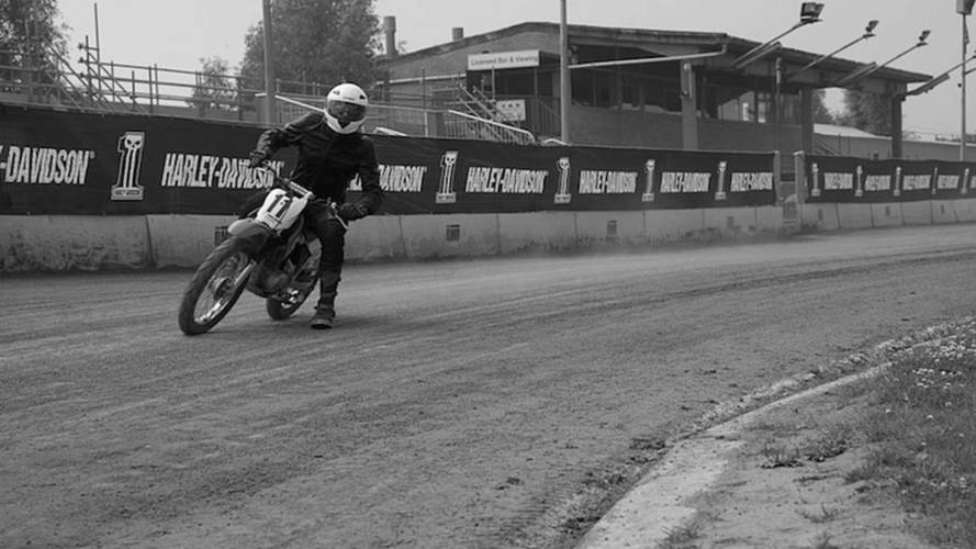 Crashing in Style: We Learn to Flat Track