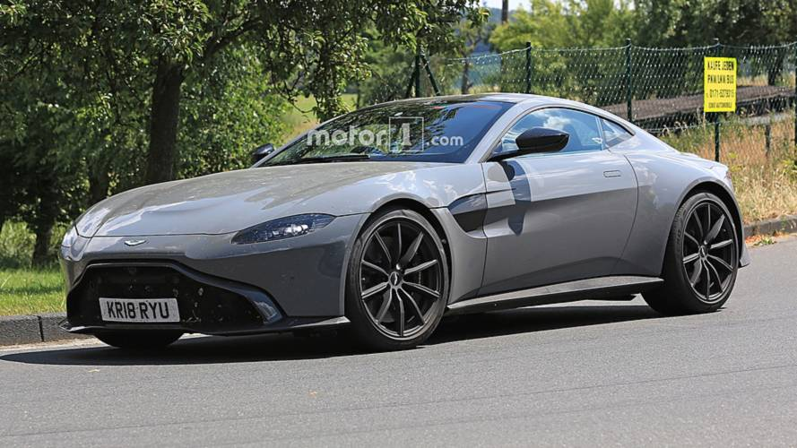 Aston Martin Vantage S Spy Photos