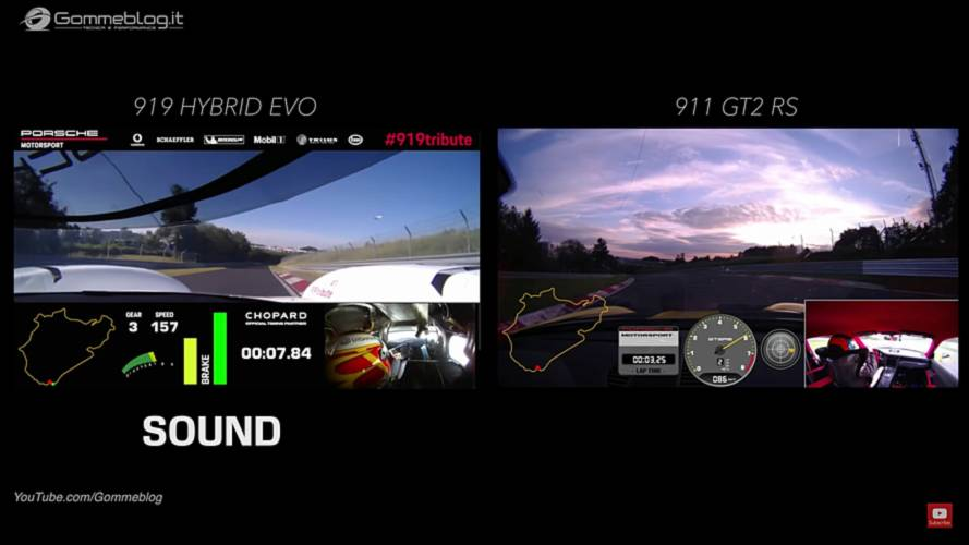 Watch Porsche 919 Evo Obliterate The 911 GT2 RS Around The 'Ring