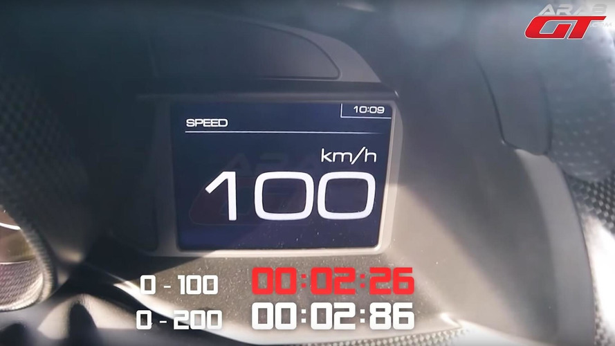 Watch Ferrari 488 Pista Hit 62 MPH / 100 KPH In Just 2.26 Seconds