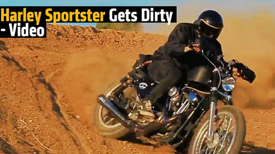 Harley Sportster Gets Dirty - Video