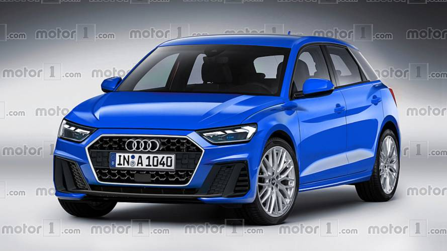 2019 audi a1 sportback rendered based on latest spy shots. Black Bedroom Furniture Sets. Home Design Ideas